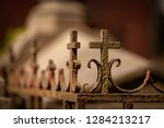 Details Of Tombs. Cemetery In...