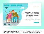 landing page for virtual... | Shutterstock .eps vector #1284222127