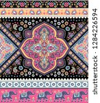 indian rug tribal ornament... | Shutterstock .eps vector #1284226594