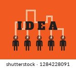 producing a big idea by... | Shutterstock .eps vector #1284228091
