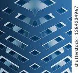 suspended or false ceiling.... | Shutterstock . vector #1284234967