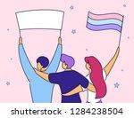 modern cartoon flat characters... | Shutterstock .eps vector #1284238504