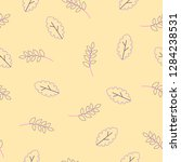 flora seamless pattern of...   Shutterstock .eps vector #1284238531
