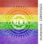 bully emblem on mosaic... | Shutterstock .eps vector #1284241621