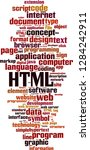html word cloud concept. vector ... | Shutterstock .eps vector #1284242911