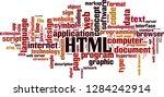 html word cloud concept. vector ... | Shutterstock .eps vector #1284242914