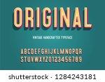 original vintage handcrafted 3d ... | Shutterstock .eps vector #1284243181