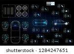 futuristic user interface. hud... | Shutterstock .eps vector #1284247651