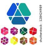 design logo element. crushing... | Shutterstock .eps vector #128424989
