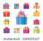 boxing packs set  presents... | Shutterstock . vector #1284255127