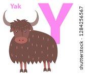 alphabet raster illustration... | Shutterstock . vector #1284256567