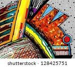 original illustration of... | Shutterstock .eps vector #128425751