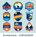 set of isolated badges with... | Shutterstock .eps vector #1284262834