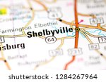 Shelbyville. Tennessee. USA on a map