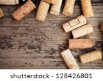 Dated Wine Bottle Corks On The...