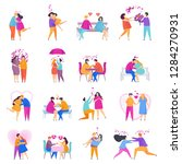 collection of love couples of... | Shutterstock .eps vector #1284270931
