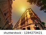 luxury buildings under a clear... | Shutterstock . vector #1284273421