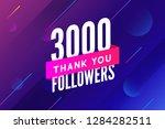 3000 followers vector. greeting ... | Shutterstock .eps vector #1284282511