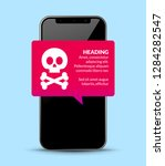mobile phone virus alert.... | Shutterstock .eps vector #1284282547