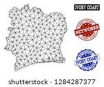 black mesh vector map of ivory...   Shutterstock .eps vector #1284287377