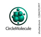 circle molecule logo concept...   Shutterstock .eps vector #1284291997