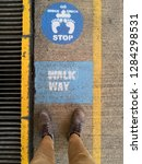 this is a sign call stop and go ... | Shutterstock . vector #1284298531