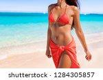 red coral bikini body sexy... | Shutterstock . vector #1284305857