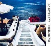 santorini island  greece  ... | Shutterstock . vector #1284310504