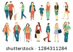 crowd of tiny people dressed in ... | Shutterstock .eps vector #1284311284
