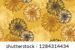 sunflower seamless pattern.... | Shutterstock .eps vector #1284314434