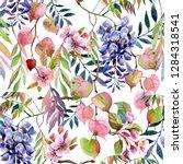 spring season art background.... | Shutterstock . vector #1284318541