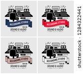recording studio and sound... | Shutterstock .eps vector #1284322441