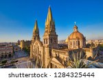 guadalajara central cathedral ... | Shutterstock . vector #1284325444