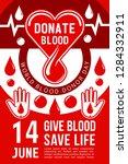 blood donation 14 june social...   Shutterstock .eps vector #1284332911