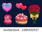 valentines day gift vector... | Shutterstock .eps vector #1284332917