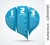 creative speech bubble origami... | Shutterstock .eps vector #128433485