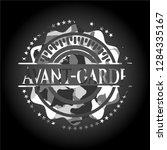 avant garde on grey camo texture   Shutterstock .eps vector #1284335167