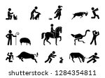 set of pictograms representing... | Shutterstock .eps vector #1284354811