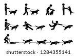 set of pictograms representing... | Shutterstock .eps vector #1284355141