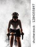 Female Roadbiker Riding A...