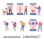 a diverse set of people who do... | Shutterstock .eps vector #1284356677