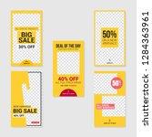 editable commercial instagram... | Shutterstock .eps vector #1284363961