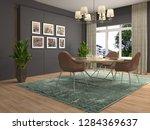 interior dining area. 3d... | Shutterstock . vector #1284369637