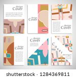 set of a4 cover  abstract...   Shutterstock .eps vector #1284369811