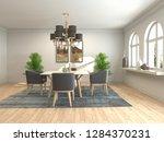 interior dining area. 3d...   Shutterstock . vector #1284370231