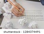 no idea and fail concept  ...   Shutterstock . vector #1284374491