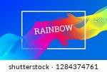 rainbow fluid background.... | Shutterstock .eps vector #1284374761