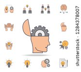 head with a gear fild color...   Shutterstock .eps vector #1284378007