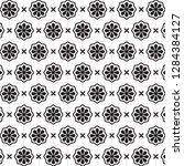 stylish black and white... | Shutterstock .eps vector #1284384127
