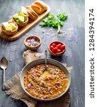 paav bhaji. street food and... | Shutterstock . vector #1284394174